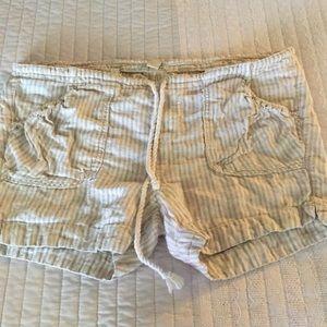 Lucky Brand 100% linen shorts